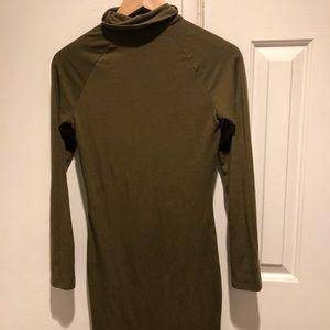 Green forever 21 turtleneck dress